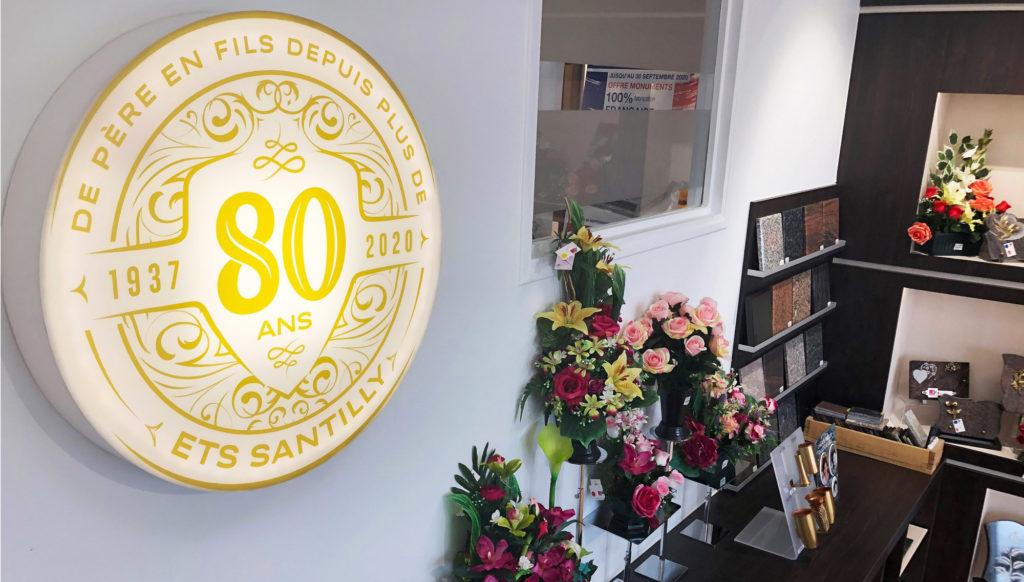 Pompes Funèbres Santilly à Drancy, articles funeraire, marbrerie